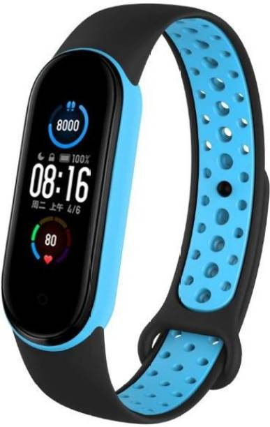WEBDOO INFOTECH Xiaomi Mi Band 5/ M5 High Quality(Nike Design/ Dotted Multi Color) Soft Breathable Strap Silicone Sports Watch Bands For Xiaomi Mi Band 5/ Mi Band 5 Adjustable Mi Band Strap Combo for Xiaomi Mi Band 5/ Mi Band 5 strap   Fitness Band Strap for M5 / M5   MI Band 5 / 5 , M5 Fitness Band Strap , M5 Strap , Soft Silicone Replacement Strap Nike Series For Xiaomi Mi Band 5(Black,Blue) Smart Band Strap Smart Band Strap