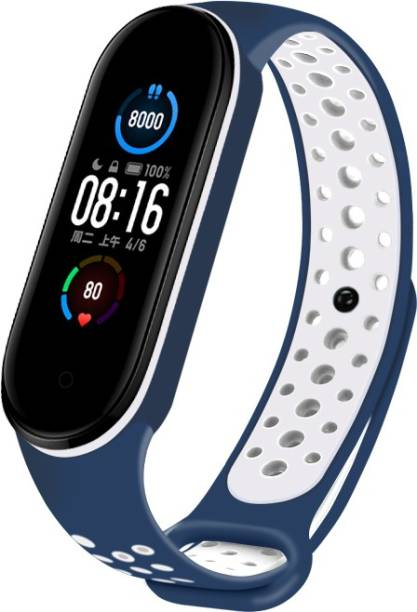 WEBDOO INFOTECH Xiaomi Mi Band 5/ M5 High Quality(Nike Design/ Dotted Multi Color) Soft Breathable Strap Silicone Sports Watch Bands For Xiaomi Mi Band 5/ Mi Band 5   Adjustable Mi Band Strap Combo for Xiaomi Mi Band 5/ Mi Band 5 strap   Fitness Band Strap for M5 / M5   MI Band 5 / 5 , M5 Fitness Band Strap , M5 Strap , Soft Silicone Replacement Strap Nike Series For Xiaomi Mi Band 5(Blue+white) Smart Band Strap Smart Band Strap