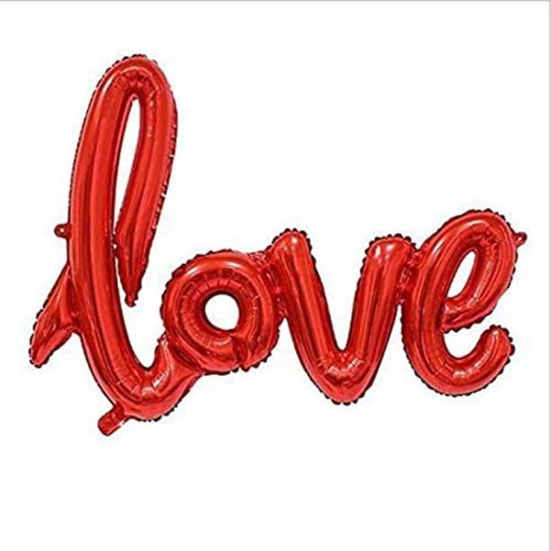 Shopperskart Solid Love Letter-Alphabet Helium-Air-Foil Balloons Letter Balloon