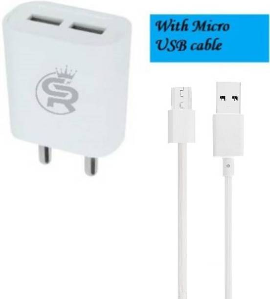Chronorex CHR-211 Fast Charge Dual Port With Micro USB cable 2.4 A Multiport Mobile Charger with Detachable Cable