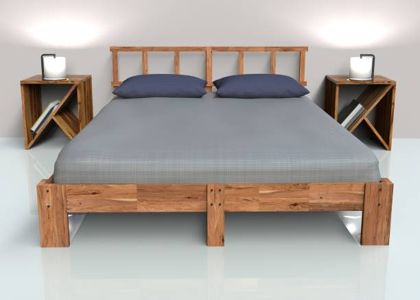 Flipkart Perfect Homes Solid Wood King Bed