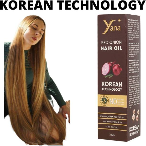 Yana Red Onion Hair Oil KOREAN TECHNOLOGY Almond Aloe vera Extract Vitamin E Bhringraj Amla Brahmi // & Women for fast growth women in Long increase with Black Seed Onion Herbals 100% Pure Ayurvedic Herbs for ReGrowth And Anti-Hair Fall Care Anti Dandruff Control Intense Long Treatment NO Silicones For Men  Hair Oil