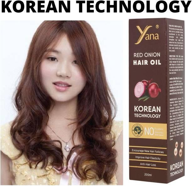 Yana Red Onion Hair Oil KOREAN TECHNOLOGY Almond Aloe vera Extract Vitamin E Bhringraj Amla Brahmi Hair Oil