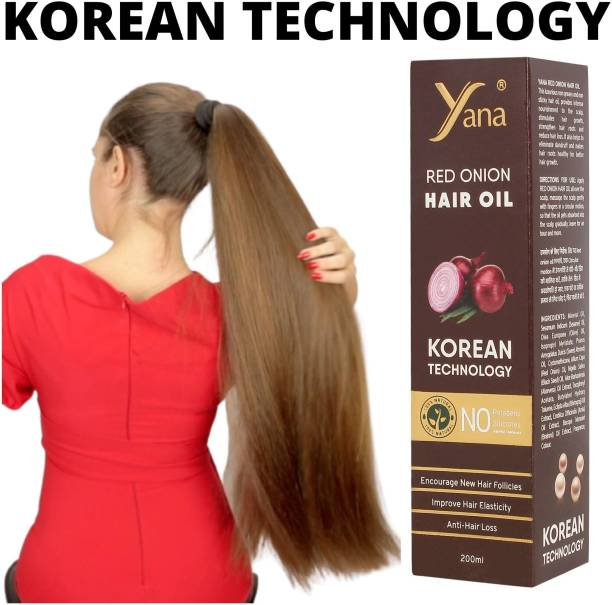 Yana Red Onion Hair Oil KOREAN TECHNOLOGY with Black Seed Almond Aloe vera Extract Vitamin E Bhringraj Amla Brahmi // Herbals 100% Pure Ayurvedic Herbs Onion for ReGrowth And Anti-Hair Fall Care Anti Dandruff Control Intense Long Treatment NO Silicones For Men & for fast growth women in Long increase Daniel booster The  Hair Oil