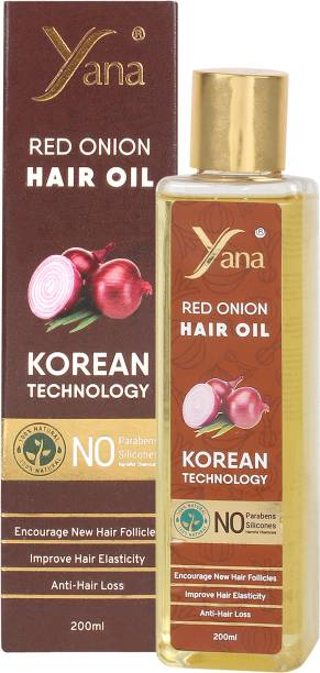 Yana Onion Hair Oil KOREAN TECHNOLOGY with Black seed Almond Aloe vera Vitamin E Bhringraj Amla  Hair Oil