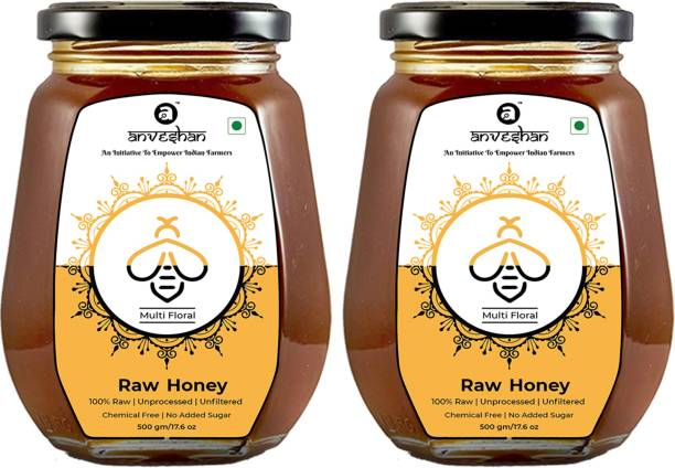 Anveshan Raw Organic Multi-Floral Honey (100% Unprocessed Ayurvedic Honey for Immunity Booting)
