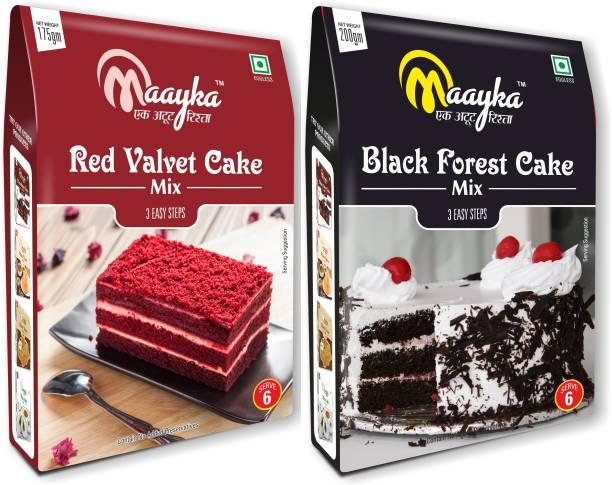 Maayka - Ek Atoot Rishta Mayka Red Velvet & Black Forest Cake Mix 175GM+200GM 375 g