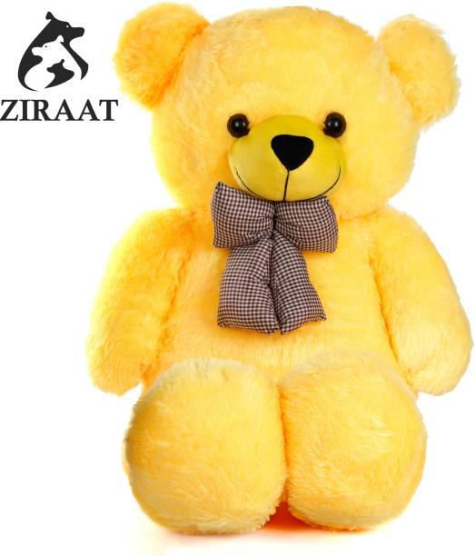 Ziraat Cool Yellow 3 Feet Teddy Bear Yellow Teddy Bears Huggable/Valentine/Loveable For Someone Special - 91 cm (Yellow) - 0.5 inch (Yellow-001-3F)  - 90 cm