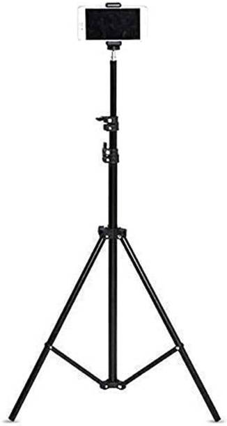 Marklif Lightweight & Portable Portable 7 Feet (84 Inch) Long Tripod Stand with Adjustable Mobile Clip Holder for All Mobiles & Cameras Tripod