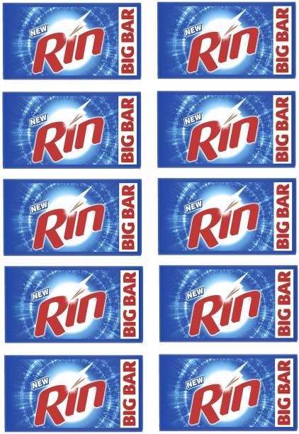 Rin Bar ( Pack Of 10 )250 Gm Soap Detergent Bar