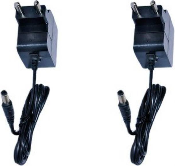 KL-TECH Combo Universal Power Adapter 12 V 1.5A DC (2.5mm Pin) for Set Top Box/DTH, LED Strip Lights, CCTV Camera (pack of 2 pcs) Worldwide Adaptor (Black) Worldwide Adaptor