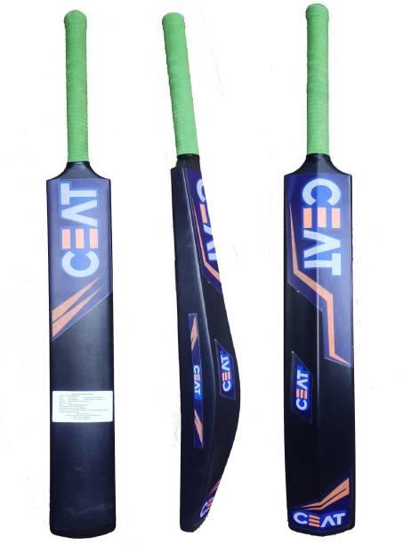Ceat six hitman Very Strong PVC Black Beauty Full Size PVC/Plastic Cricket  Bat