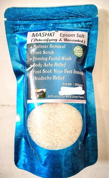 MASHKI EPSOM BATH SALT best for acne, facial wounds, sore muscle, body pain, hair and much more 500grams