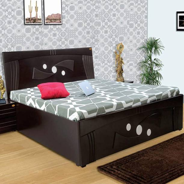 ELTOP Sword Double Bed Engineered Wood King Hydraulic, Box Bed