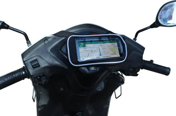GRABMOUNT Universal Mobile Holder / Pouch-Bag for all Scooters Scooty's Activa Jupiter etc Bicycle Phone Holder