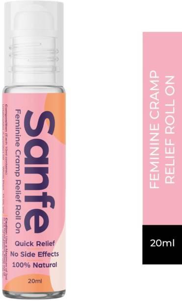 Sanfe Feminine Cramp Relief Roll on for Women's Cramp Aid during Periods - 20ml Liquid