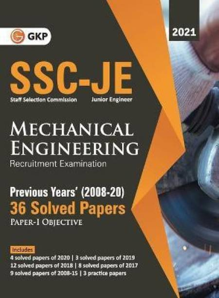 Ssc 2021 Junior Engineers Paper I Mechanical Engineering 36 Previous Years Solved Papers (2008-20)