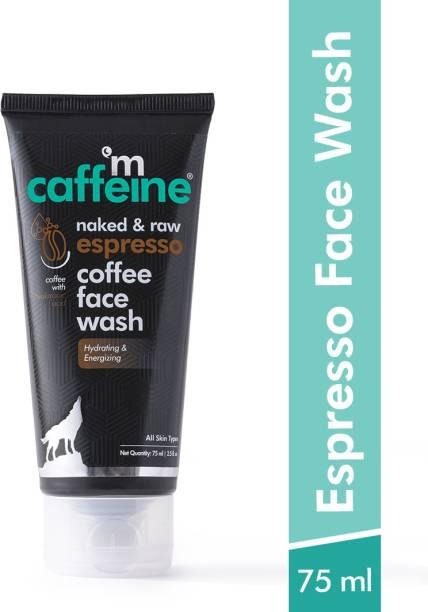 MCaffeine Espresso Coffee Energizing  | Hydration, Plumps Skin | Hyaluronic Acid, Pro-Vitamin B5 | All Skin Types | Paraben & SLS Free Face Wash