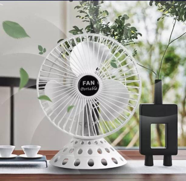 ShoppoStreet Personal USB Desk Fan, Portable Desktop Table Cooling Fan Powered by USB,Strong Wind,Relatively Quiet,for Home Office Car Outdoor Travel 3 Blade Table Fan