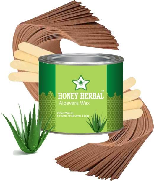 HONEY HERBAL Aloevera wax- BEST HAIR REMOVER WAX (600 G) Best Alovera wax for smoothing skin. 600 g Wax