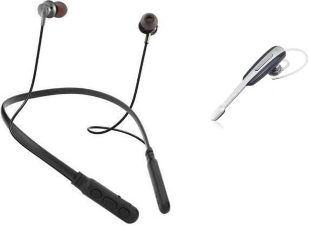 digilex HP17 Wireless NeckBand With (FREE) Single Ear Handsfree Bluetooth Headset