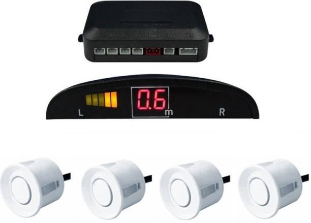 Celix PARKSENS1c62 Car Reverse Parking Sensor with LED Display 200-30cm Range- White Parking Sensor