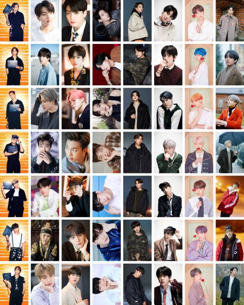 Pack of 56 BTS Band Members Photos collections  for BTS Army  HD+ Quality Photographic Paper