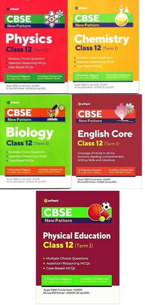 Arihant CBSE New Pattern MCQ Based ENGLISH, PHYSICS, CHEMISTRY,BIOLOGY PHYSICAL EDUCATION For (TERM-I) Class-12 (3-BOOK SET)