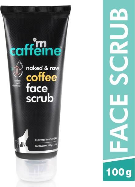 MCaffeine Naked & Raw Coffee Face Scrub, 100 g | Vitamin E | Tan Removal | Oily/Normal Skin | Paraben & SLS Free Scrub