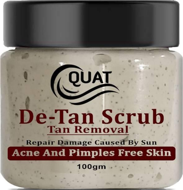 QUAT De Tan Scrub Tan Removal Repair Damage Cause By Sun Acne And Pimple Free Skin  Scrub