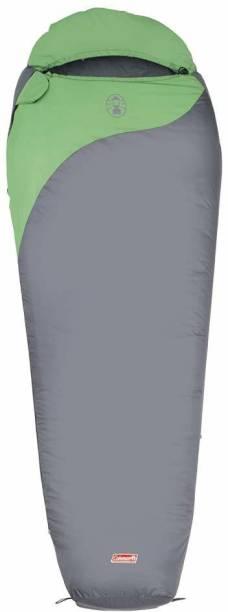 Coleman Biker 2 Season Lightweight Sleeping Bag, Temperature -2C to +14C, 990 g (Grey, Green)