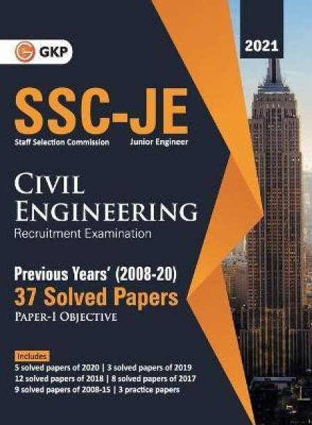 Ssc 2021 Junior Engineers Paper I Civil Engineering 37 Previous Years Solved Papers (2008-20)