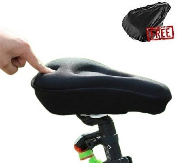 NKSA Soft Silicone Gel Cycle Seat Cover Saddle Cover Free Size