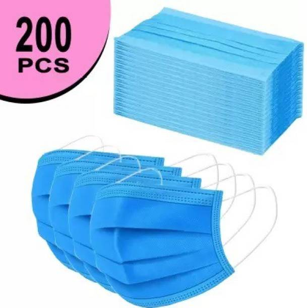 RRHR SALES Surgical Mask-100. 100 Pcs. 3 Ply Mask With Nose Pin, Unbreakable Ear loops (Ultrasonically Welded) & Ultra Soft Ear loops (which does not hurt ears) 3 Layer Pharmaceutical Breathable Surgical Pollution Face Mask For Men, Women, Kids 3 Layer Pharmaceutical mask 100 Pcs. Surgical Mask Surgical Mask With Melt Blown Fabric Layer