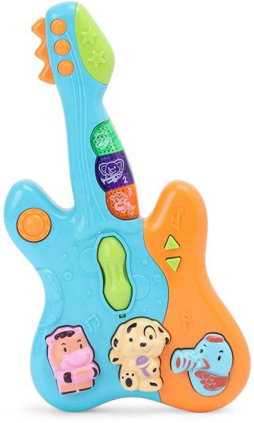 ARONET Musical Guitar Toy with Colorful Animal Keys, Songs and Sound and Light Effects Toy for Kids, Baby ,Infant Toddlers, Boys and Girls (Pack of 1)