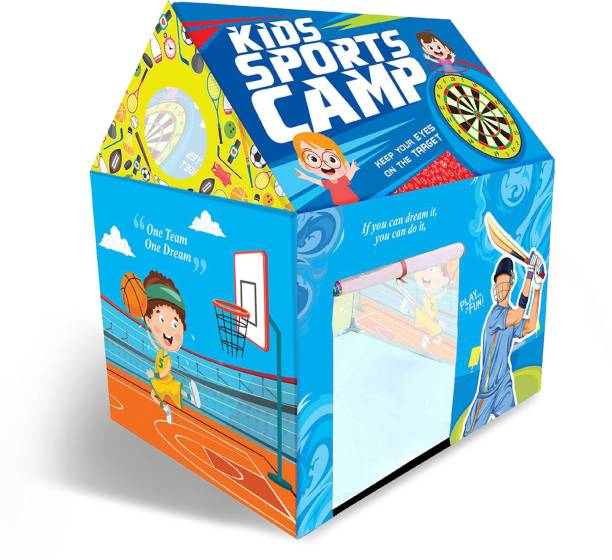 Miss & Chief Sports Camp Play House Tent for Kids