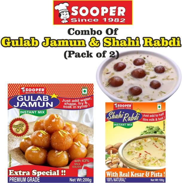 SOOPER GULAB JAMUN MIX 200g + SHAHI RABDI MIX 100g = 300 g