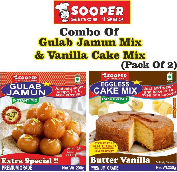 SOOPER GULAB JAMUN MIX 200g + VANILLA CAKE MIX 250g = 450 g