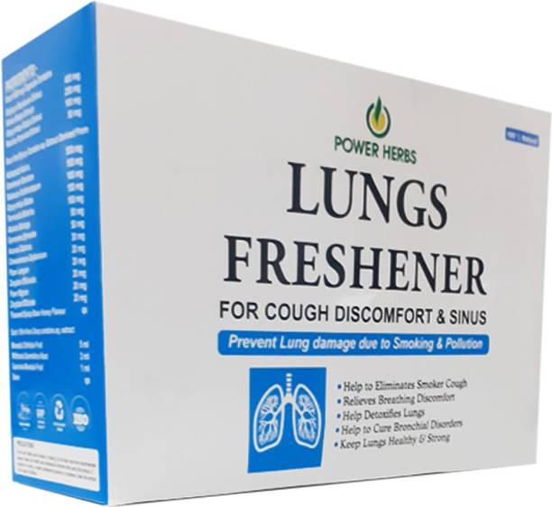 Power herbs Lungs Freshener kit for cough dicomfort & sinus (60 capsules, Syrup 200ml, Noni drops 60ml)