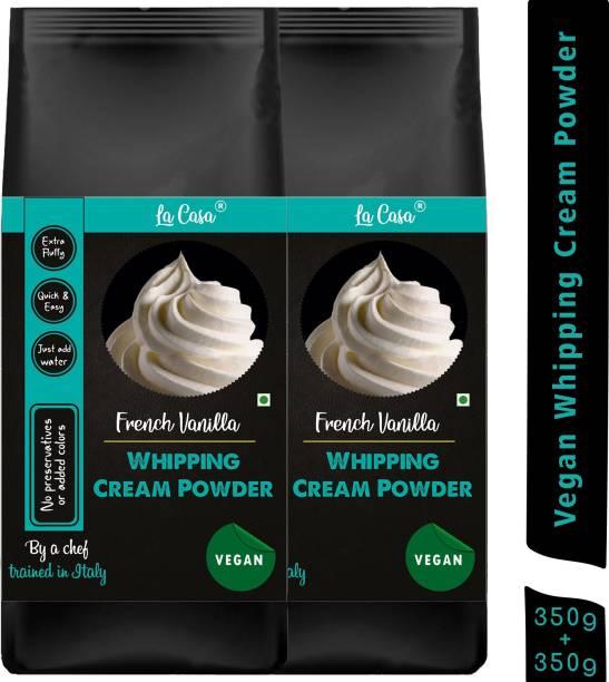 La Casa Vegan Whipping Cream Powder - Vanilla   Combo Pack of 2   Icing