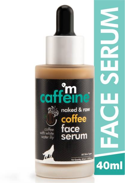 MCaffeine Naked & Raw Coffee Face Serum   Sun Protection   Hyaluronic Acid, Vitamin E   All Skin   Paraben & Mineral Oil Free