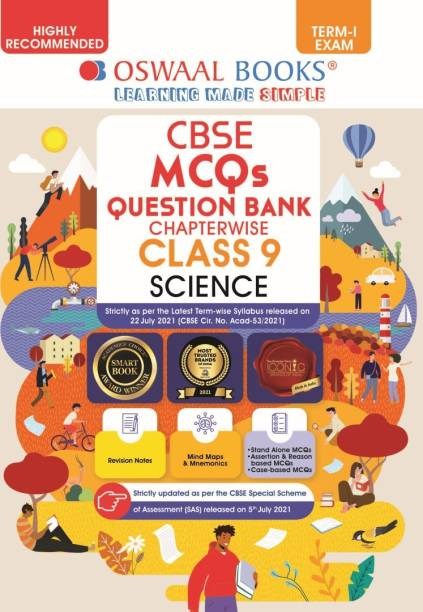 Oswaal CBSE MCQs Question Bank For Term-I, Class 9, Science (With the largest MCQ Question Pool for 2021-22 Exam)