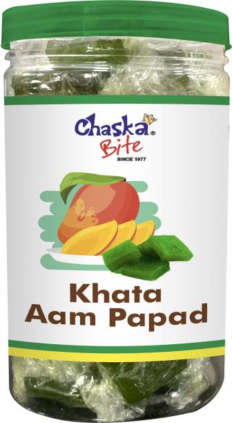 CHASKA BITE Aam Papad Khatta   Green Mango Candy   500 gm Green Mango Candy Bar
