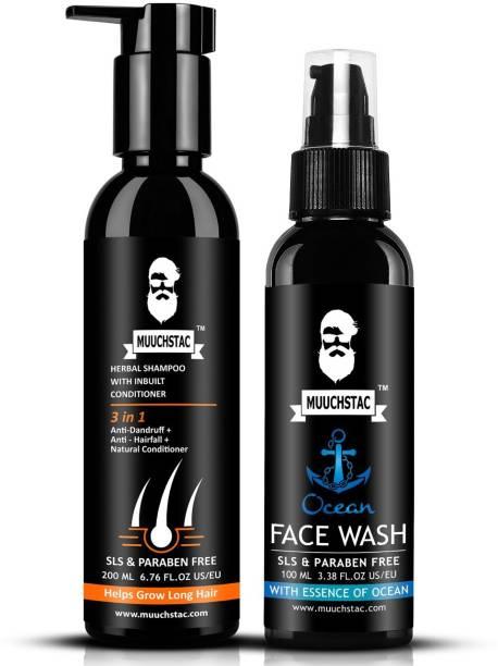 MUUCHSTAC Anti-dandruff and Anti-Hairfall Shampoo and Face Wash