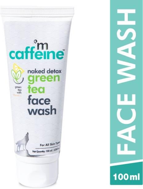 MCaffeine Naked Detox Green Tea    Dirt Removal   Vitamin C, Hyaluronic Acid   All Skin   Paraben & SLS Free   Face Wash