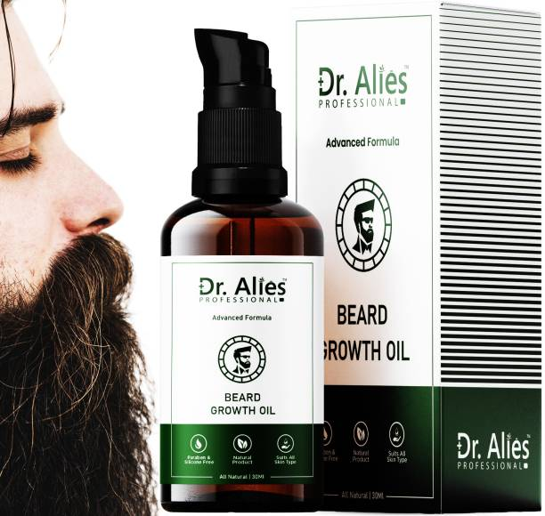 Dr. Alies Professional Fast & Advanced Beard & Mustache Growth Oil for Men | 20x Faster Growth and Thick Beard And Mustache | Chemical Free Beard Care Hair Oil