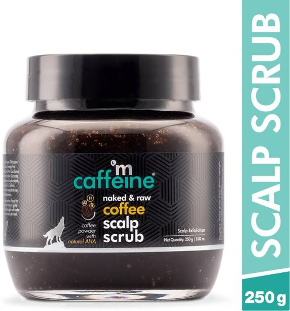 MCaffeine Naked & Raw Coffee Scalp Scrub, 250 gm | Dandruff Control, Scalp Exfoliation | Natural AHA | All Hair Types | Sulphate & Silicone Free