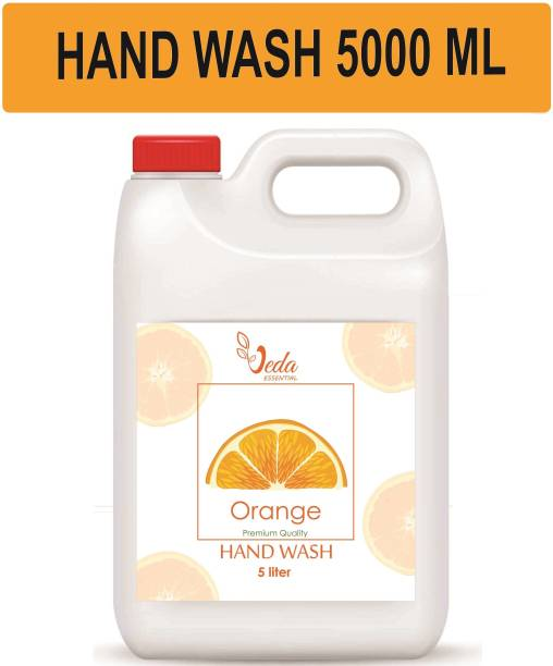Veda ORANGE Anti Bacterial Hand Wash Refill Pack, 99.9% Germ Protection Hand Wash Can