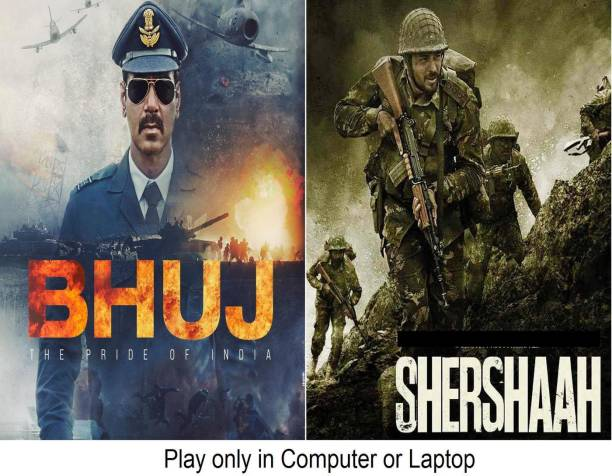 Bhuj: The Pride of India & Shershaah (2 Movies) it's DURN DATA DVD play only in computer or laptop it's not original without poster HD print quality