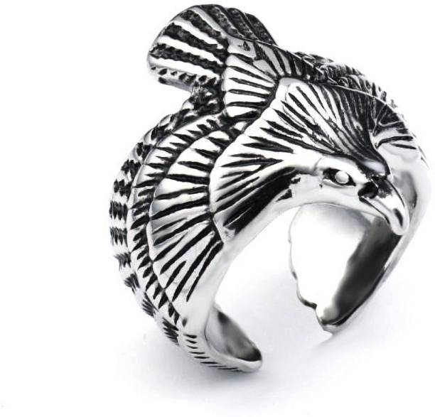 Fashion story Western Style Ring Adjustable for Men and Women Silver Plated Crystal Rings for Men and Women with Cubic Zirconia Adjustable Crystal Cubic Zirconia Silver Plated Ring